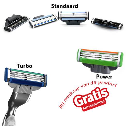 4 Stuks scheermessen geschikt voor Gillette Mach 3