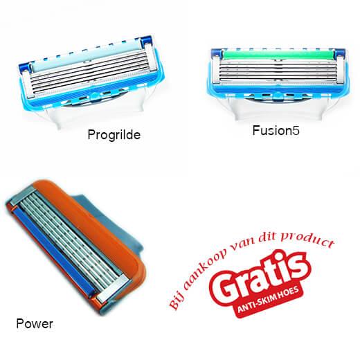 Scheermessen geschikt voor Gillette Fusion (1 set, 4 messen)