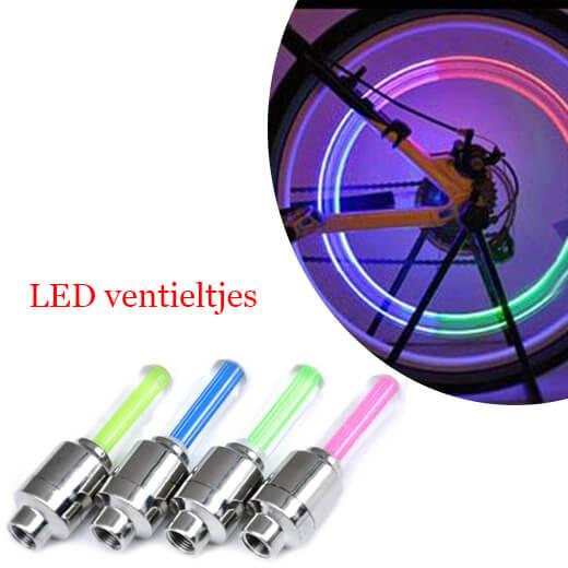 LED verlichting voor ventieltjes! Veilig en opvallend (2pack)