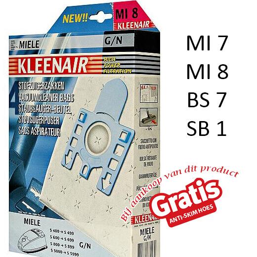 Kleenair 5-lagen systeem stofzuiger zakken