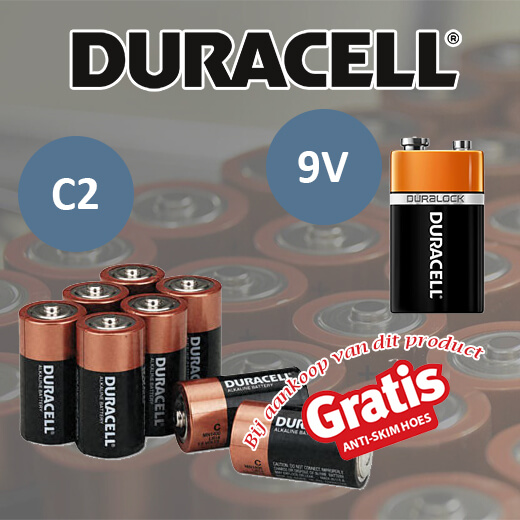 Originele Duracell C2 en/of 9V batterijen