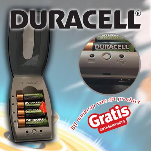 4x Originele Duracell oplaadbare batterijen incl. oplader!