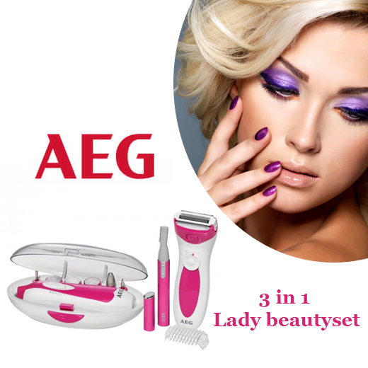 De 3 in 1 AEG Lady Beautyset LBS 5676 voor een perfecte look!