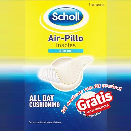Geen zweetgeurtjes meer met de Scholl Air-Pillo inlegzolen!