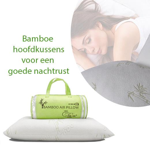 Goede nachtrust met deze Bamboe hoofdkussens