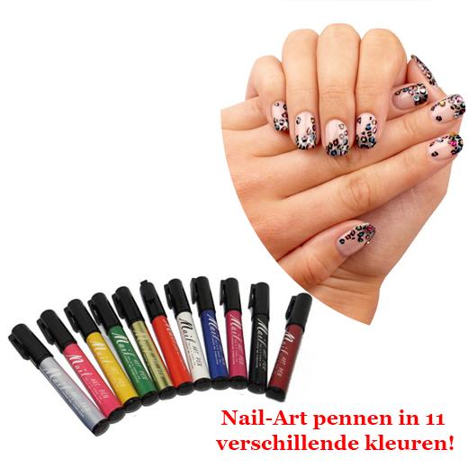 Nail-Art pennen in 11 verschillende kleuren!