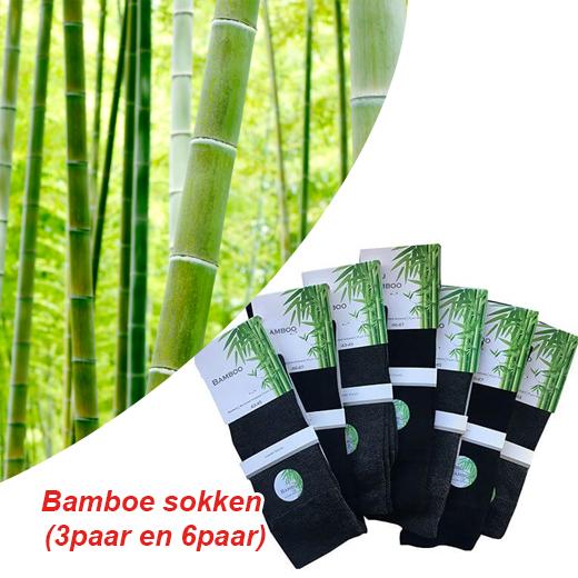 Frisse en droge voeten met deze Bamboe sokken Zwart (3paar en 6paar)