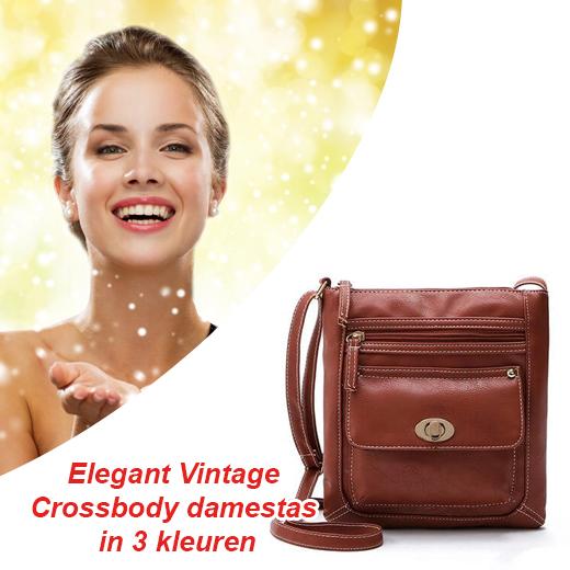 Elegant Vintage Crossbody damestas in 3 kleuren