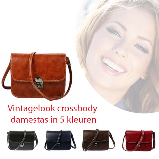 Prachtige crossbody damestas in vintage look
