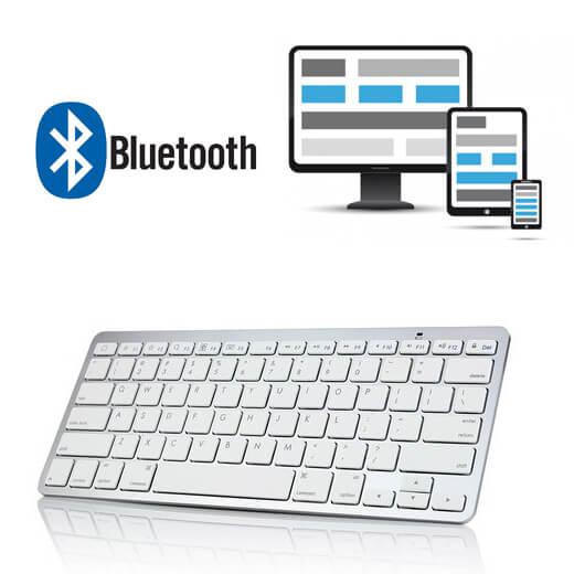 Universele draadloze Bluetooth QWERTY toetsenbord