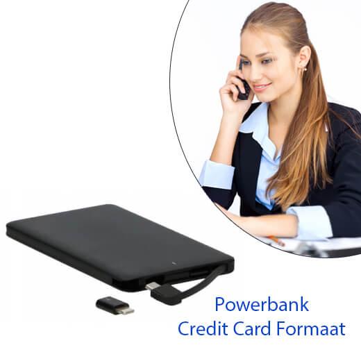 CreditCard formaat Powerbank (4000 mAh)