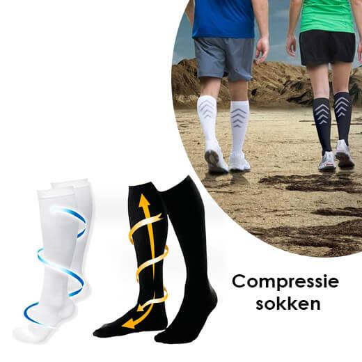 Verlicht zwellingen met de Compressie sokken
