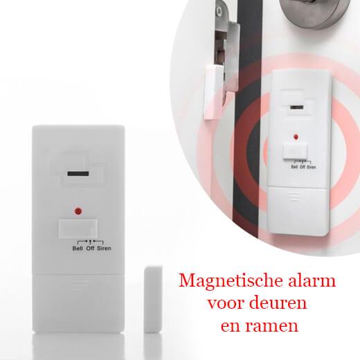 Magnetische alarm voor deuren en ramen