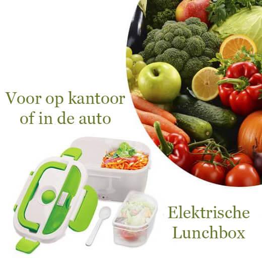 Elektrische Lunchbox voor op kantoor of in de auto