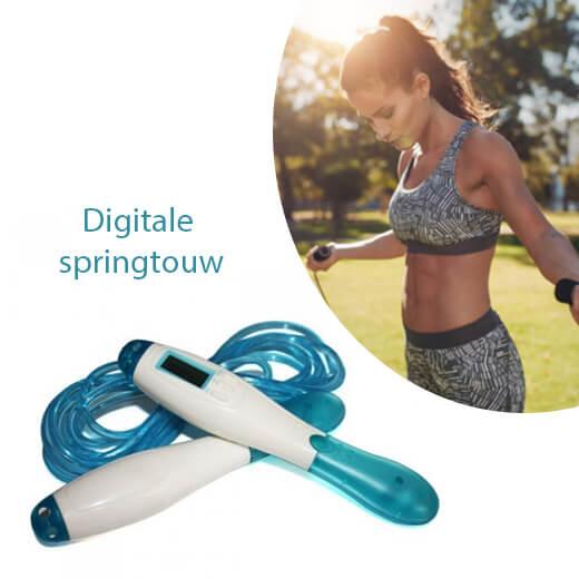Digitale springtouw om je calorieen goed bij te houden