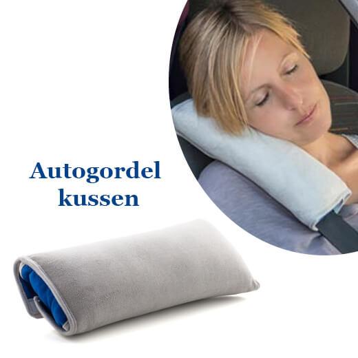 Autogordel kussen, perfect voor passagiers die slapen in de auto