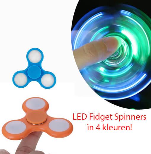 Draai al je stress en verveling weg met de LED Fidget Spinners!