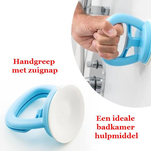 Een ideale badkamer hulpmiddel, Handgreep met zuignap