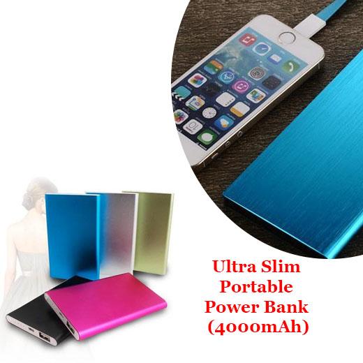 Ultra Slim Portable Power Bank (4000mAh)