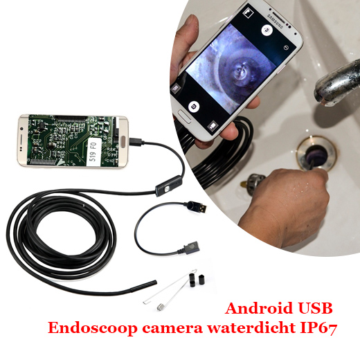 Android - USB Endoscoop camera waterdicht IP67 ( 5 meter )