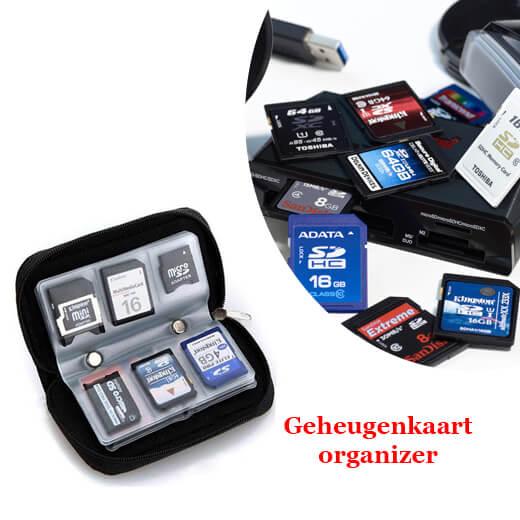 Raak geen kaarten meer kwijt met de geheugenkaart-organizer