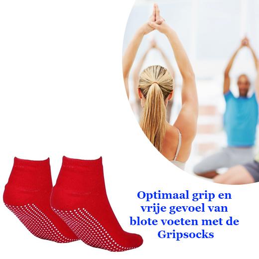 Optimaal grip en vrije gevoel van blote voeten met de Gripsocks