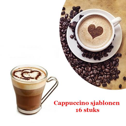 Indruk maken met deze Cappuccino sjablonen 16 stuks