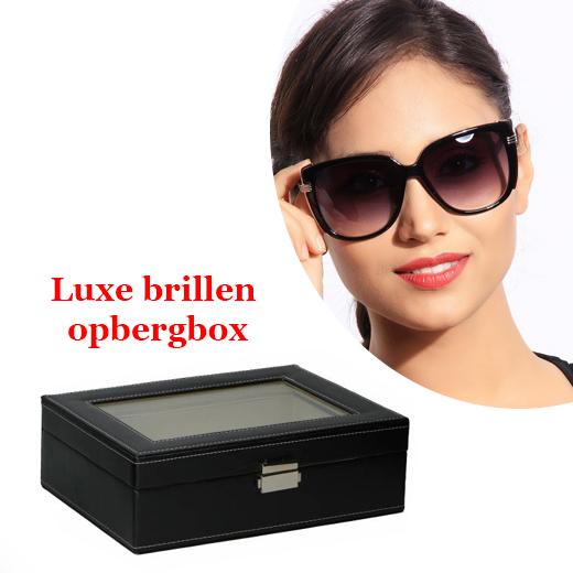 Luxe handige opbergbox voor 6 brillen