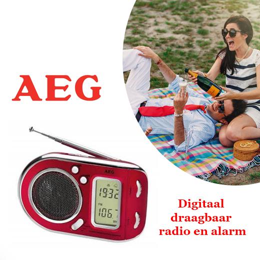 Digitaal draagbaar radio en alarm - Leuk voor onderweg