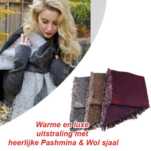 Warme en luxe uitstraling met heerlijke Pashmina&Wol sjaal
