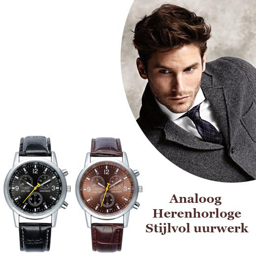 Analoog Herenhorloge, Stijlvol uurwerk voor elke dag!