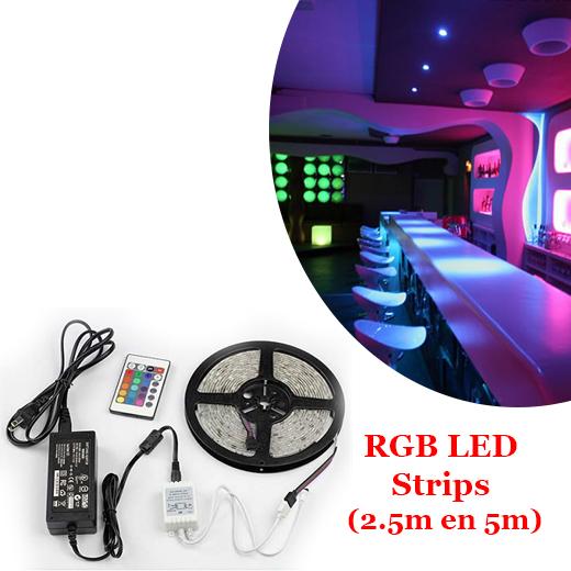 Sfeer in elke kamer met deze RGB LED Strips vanaf?9,95