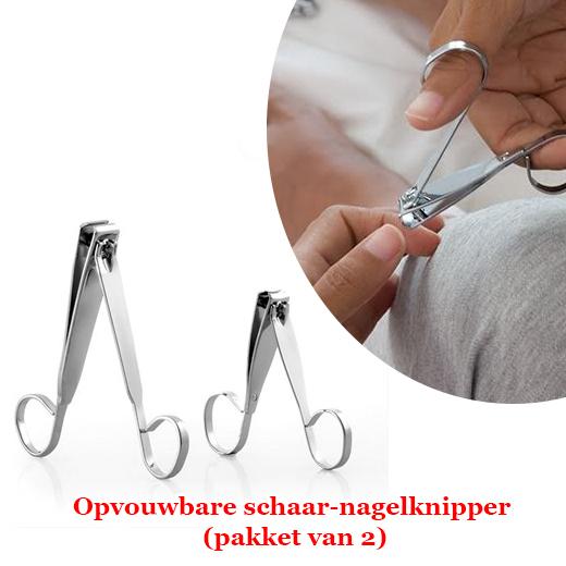 Perfecte opvouwbare schaar-nagelknipper (pakket van 2)