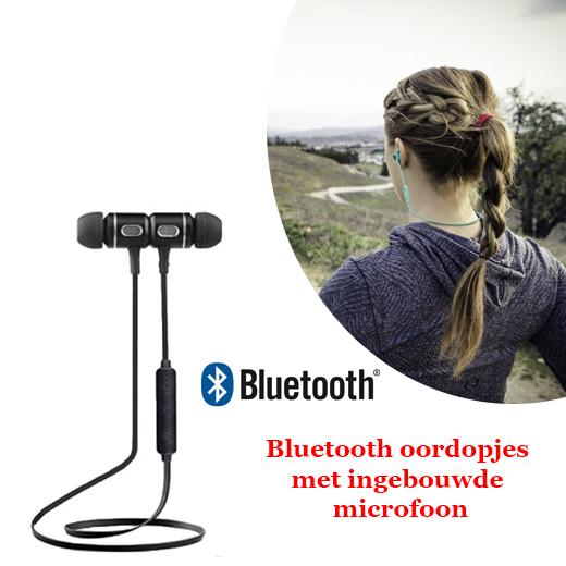Bluetooth oordopjes met ingebouwde microfoon