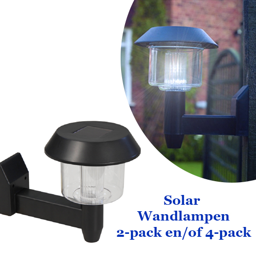 2-Stuks Solar LED  Wandlampen