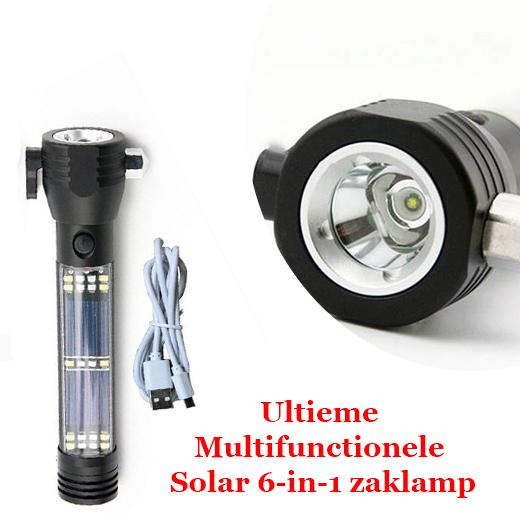 Ultieme Multifunctionele Solar 6-in-1 zaklamp