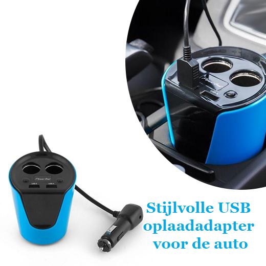 Stijlvolle USB oplaadadapter voor de auto