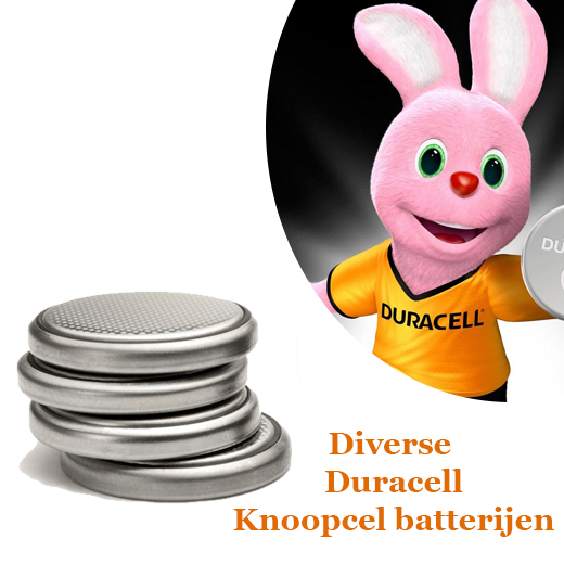 Diverse Duracell Long lasting Power knoopcel batterijen