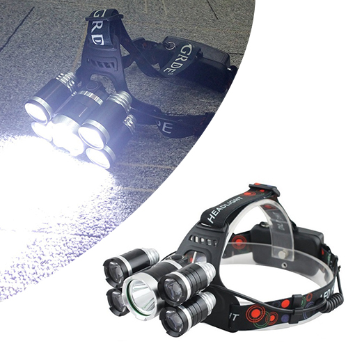 Extreem Felle 5 x LED Hoofdlamp 3000 lumen