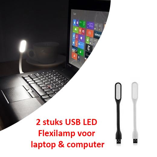 2 stuks USB LED Flexilamp voor laptop&computer