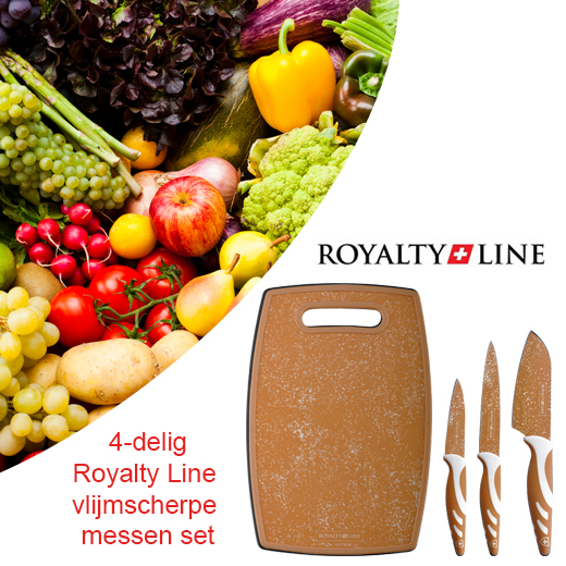 4-delig Royalty Line vlijmscherpe messen set