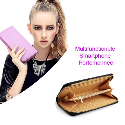 Multifunctionele Smartphone Portemonnee met ritssluiting