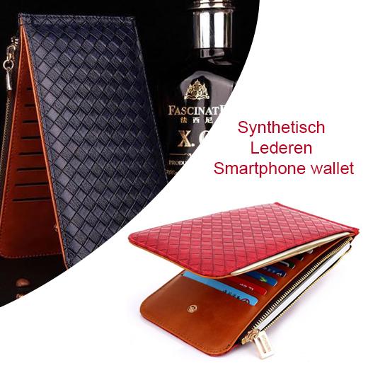 Synthetisch Lederen Smartphone wallet