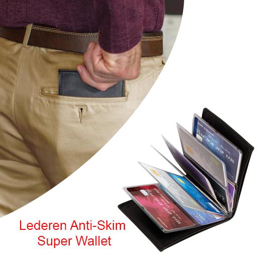 Lederen Anti-Skim Super Wallet