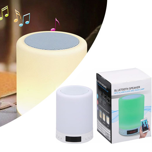 Bluetooth touch lamp met speaker en digitale klok