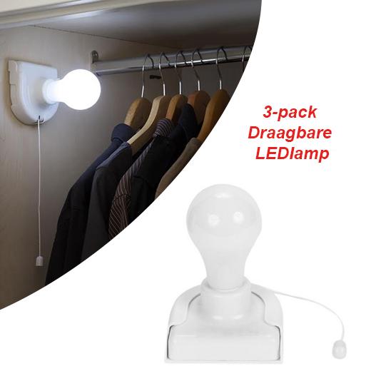 Elke ruimte verlichten met de 3-pack Draagbare LEDlamp