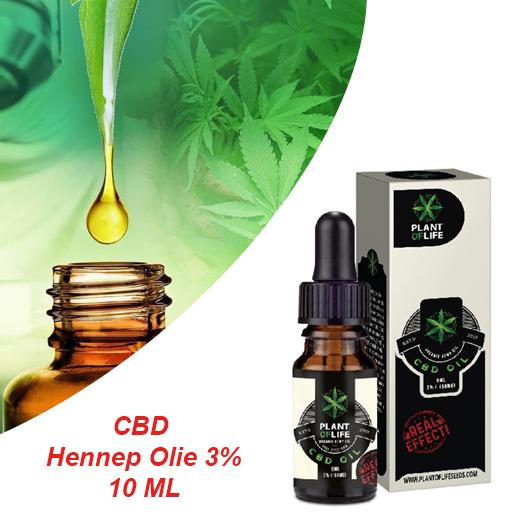 CBD Hennep Olie 3% - Bij Pijn, Spasmen En Chronische Pijnklachten