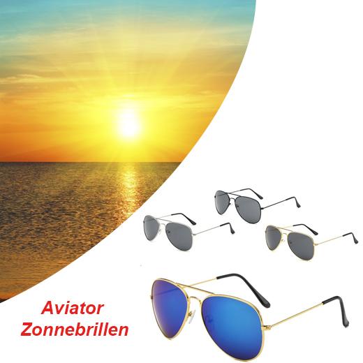 Aviator Zonnebrillen in 4 verschillende kleuren
