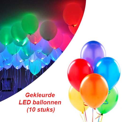Gekleurde LED ballonnen voor elke feestelijke gelegenheid (10 stuks)