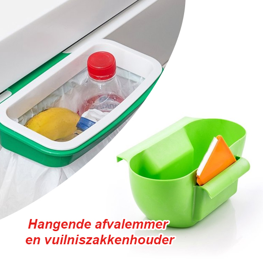 Alles wat je nodig hebt in de keuken - Hangende afvalemmer en vuilniszakkenhouder